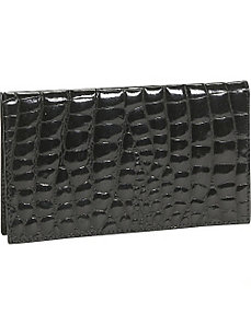 Crocodile Bidente Checkbook Cover by Budd Leather