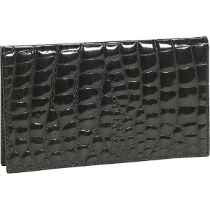 Crocodile Bidente Checkbook Cover