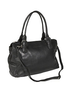 Twin Handle Zipper Satchel by Derek Alexander Leather
