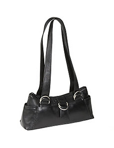 E/W Top Zip Shoulder Bag by Derek Alexander Leather