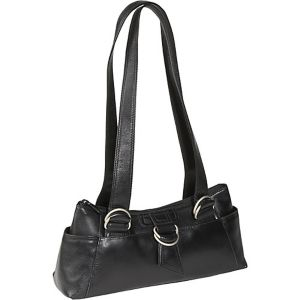 E/W Top Zip Shoulder Bag