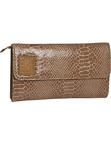 Snakeskin Commuter Wallet by KaraB