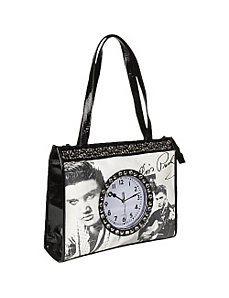 Elvis Totebag With Clock