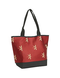 Signature Tote Dragonfly Garnet by Sally Spicer