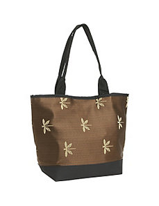 Signature Tote Dragonfly Chocolate by Sally Spicer