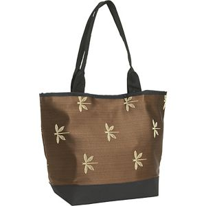 Signature Tote Dragonfly Chocolate