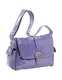 Laminated Buckle Corduroy Diaper Bag by Kalencom