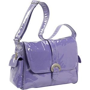 Laminated Buckle Corduroy Diaper Bag
