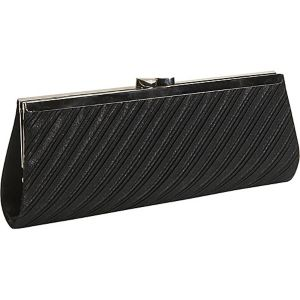 Classic Pleated Satin Clutch