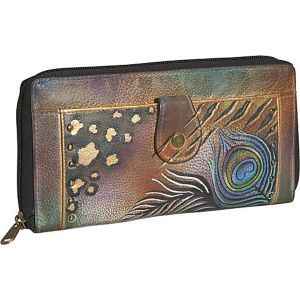 Ladies Clutch Wallet-Premium Peacock Safari