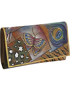 Multi Pocket Wallet/Clutch-Collage by Anuschka