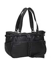 Braided Belt Shoulder Bag by Piel