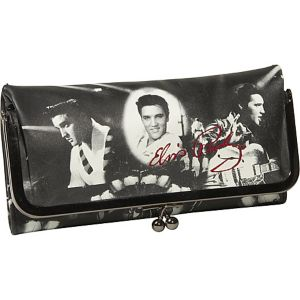 Elvis Collage Kisslock Wallet