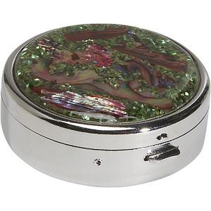 Mother of Pearl Round Pill Box
