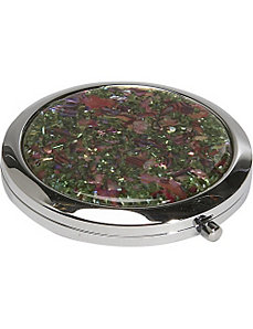 Mother of Pearl Compact Mirror - 1' x 3' by Budd Leather