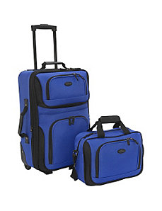 Rio 2-Piece Lightweight Carry-On Luggage Set by Traveler's Choice