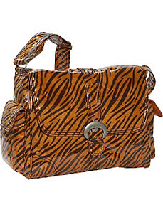 Tiger Fur Laminated Buckle Bag by Kalencom