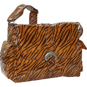 Tiger Fur Laminated Buckle Bag