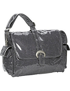 Crystals Laminated Buckle Bag by Kalencom