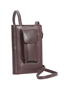 Leather Purse w/Strap by Leatherbay