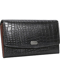 Women's Croc Leather Accordian Wallet by Leatherbay