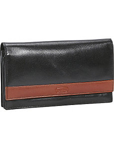 Women's Flip Top Sleek Leather Wallet by Leatherbay
