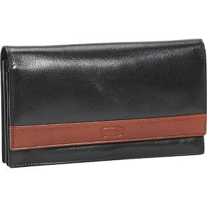 Women's Flip Top Sleek Leather Wallet