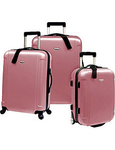Freedom II - 3-Piece Hardside Spinner/Rolling Luggage Set by Traveler's Choice
