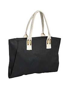 Jute Canvas Tote by Earth Axxessories