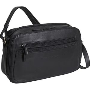 Double Zip Organizer Handbag