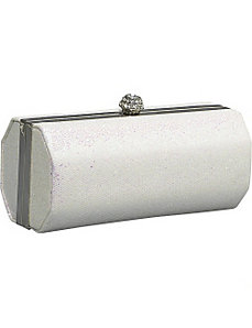Hard Case Clutch with Rhinestone Closure by J. Furmani