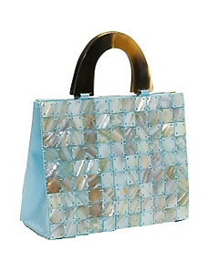 Tiled Mother of Pearl Handbag by Global Elements