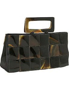 Rectangle Buffalo Horn Handbag by Global Elements