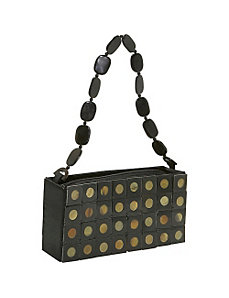 Polka Dot Horn Handbag by Global Elements