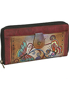 Ladies Clutch Wallet-Henna Butterfly by Anuschka