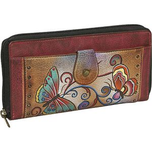 Ladies Clutch Wallet-Henna Butterfly
