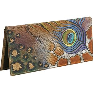 Check-book Cover: Premium Peacock Safari