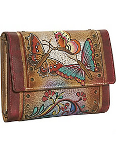 Ladies Three Fold Wallet: Henna Butterfly by Anuschka