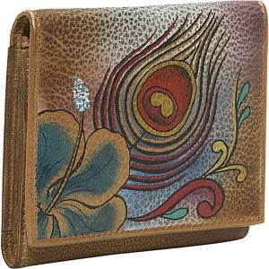 Three Fold Wallet - Premium Peacock Flower