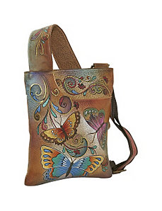 Slim Cross Shoulder Bag-Henna Butterfly by Anuschka