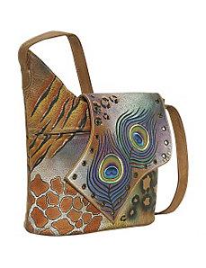 Abstract Flap Bag-Premium Peacock Safari by Anuschka