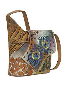 Abstract Flap Bag-Premium Peacock Safari by Anuschka