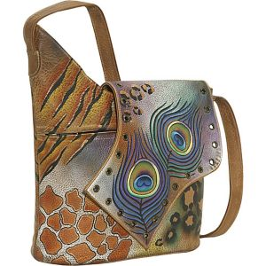 Abstract Flap Bag-Premium Peacock Safari