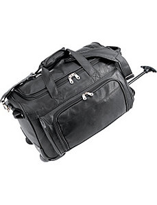 Koskin Leather Rolling Carry-On Duffel Bag by U.S. Traveler