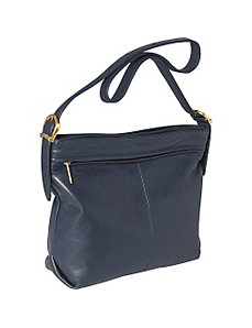Hampton Collection Top Zip Two Compartment Hobo by Stone Mountain