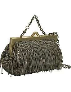 Mini Frame Bag with Chain Fringe by Whiting and Davis