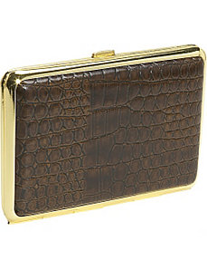 Croco Calf Large 4 Section Pill Box by Budd Leather