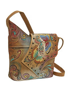 Abstract Flap Bag: Henna Butterfly by Anuschka