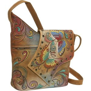 Abstract Flap Bag: Henna Butterfly