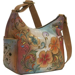 Hobo with Side Pockets: Henna Floral